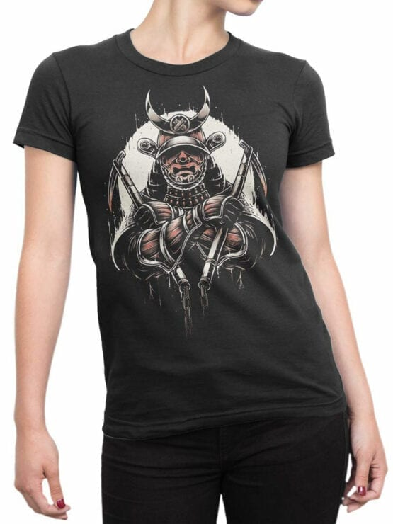 1787 Warrior Samurai T Shirt Front Woman