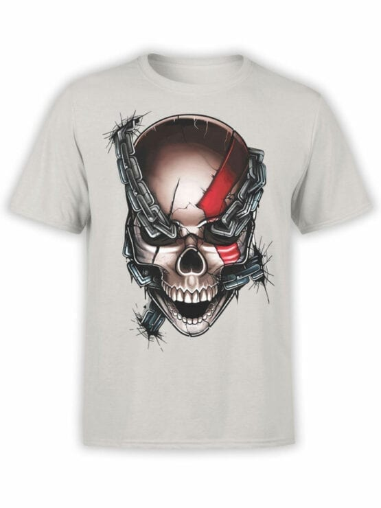 1804 God of War Skull T Shirt Front
