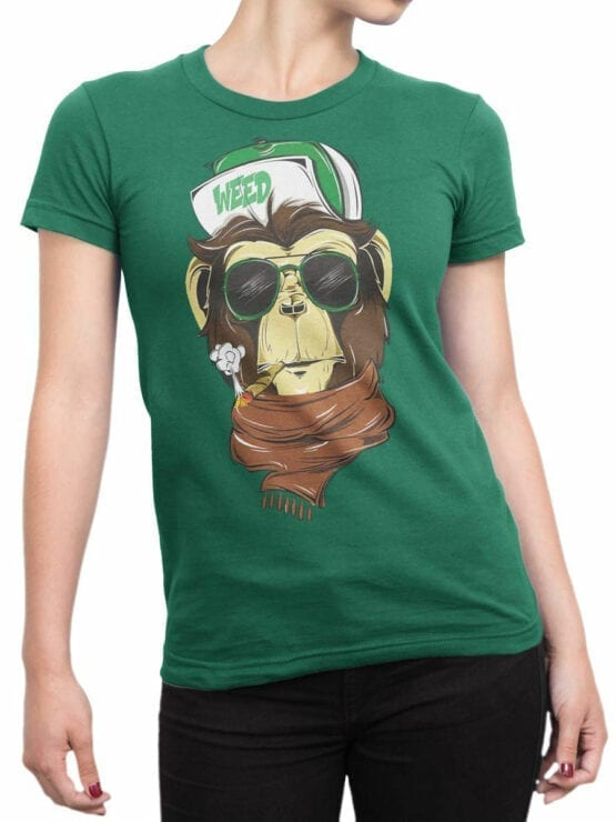 1809 Weed T Shirt Front Woman