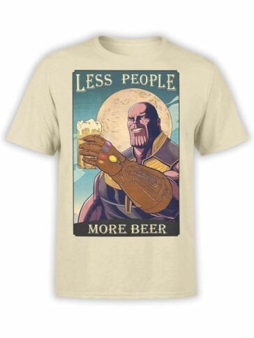 1818 Thanos Beer T Shirt Front