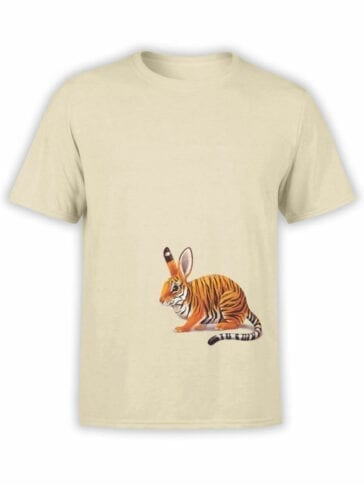 1829 Tiger Rabbit T Shirt Front