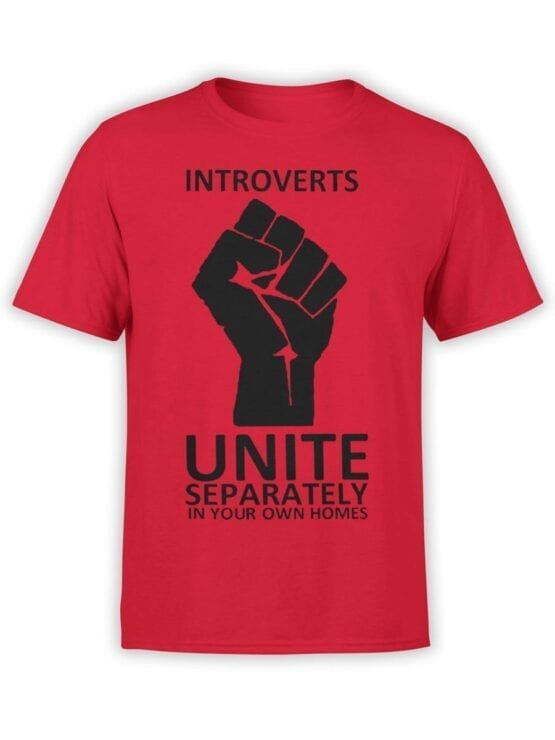 1835 Introverts T Shirt Front