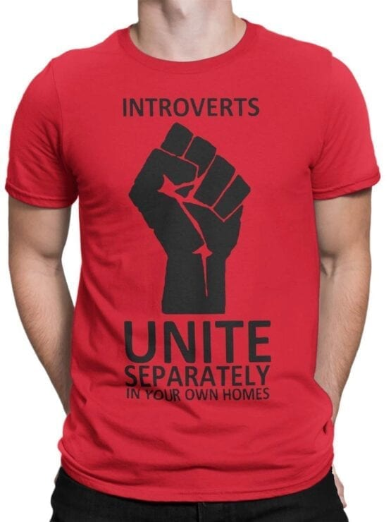 1835 Introverts T Shirt Front Man
