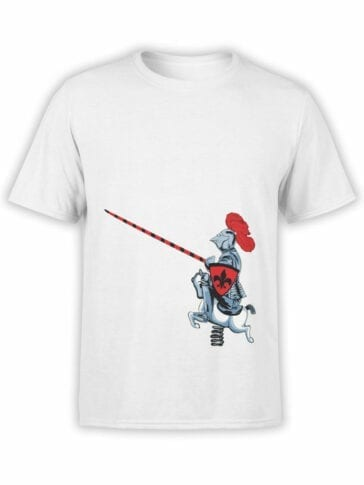 1836 Cute Knight T Shirt Front