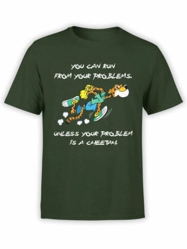 1846 Cheetah Problem T Shirt Front