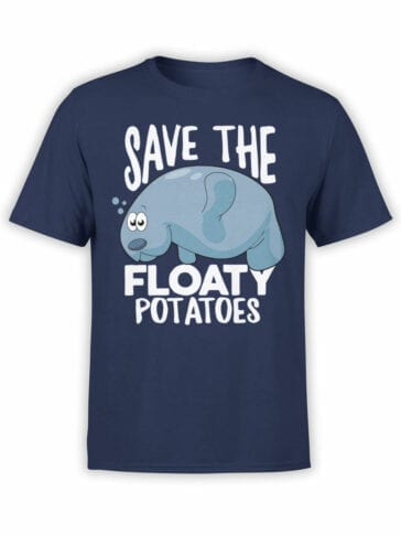 1847 Save the Floaty Potato T Shirt Front