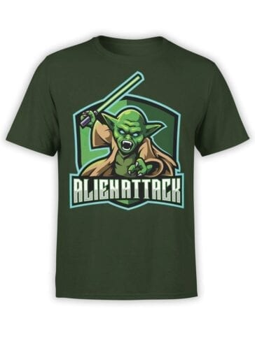 1849 Star Wars T Shirt Alien Attack Front