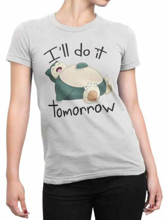 1852 Snorlax T Shirt Front Woman