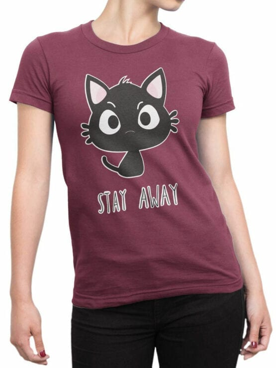 1854 Stay Away T Shirt Front Woman