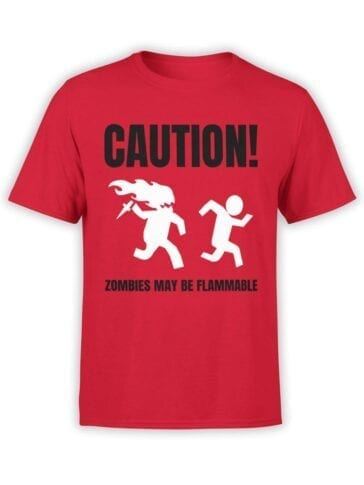 1866 Flammable Zombies T Shirt Front