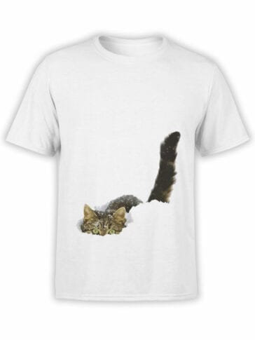 1877 Cat in the Snow T Shirt Front