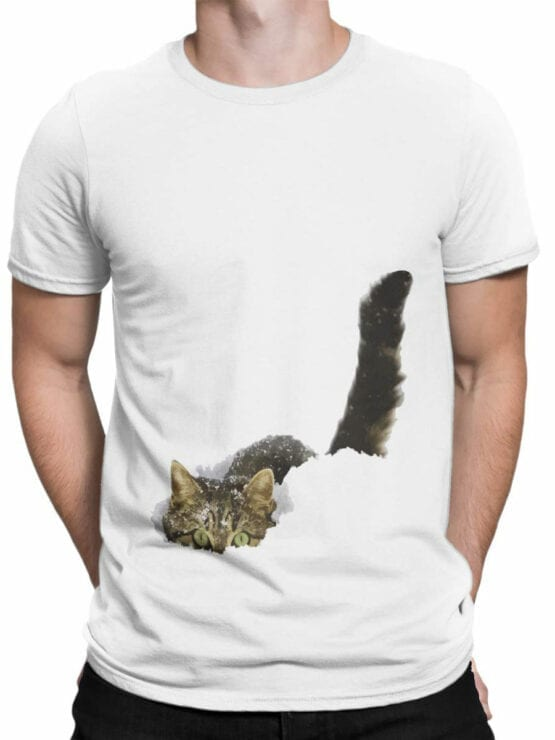 1877 Cat in the Snow T Shirt Front Man