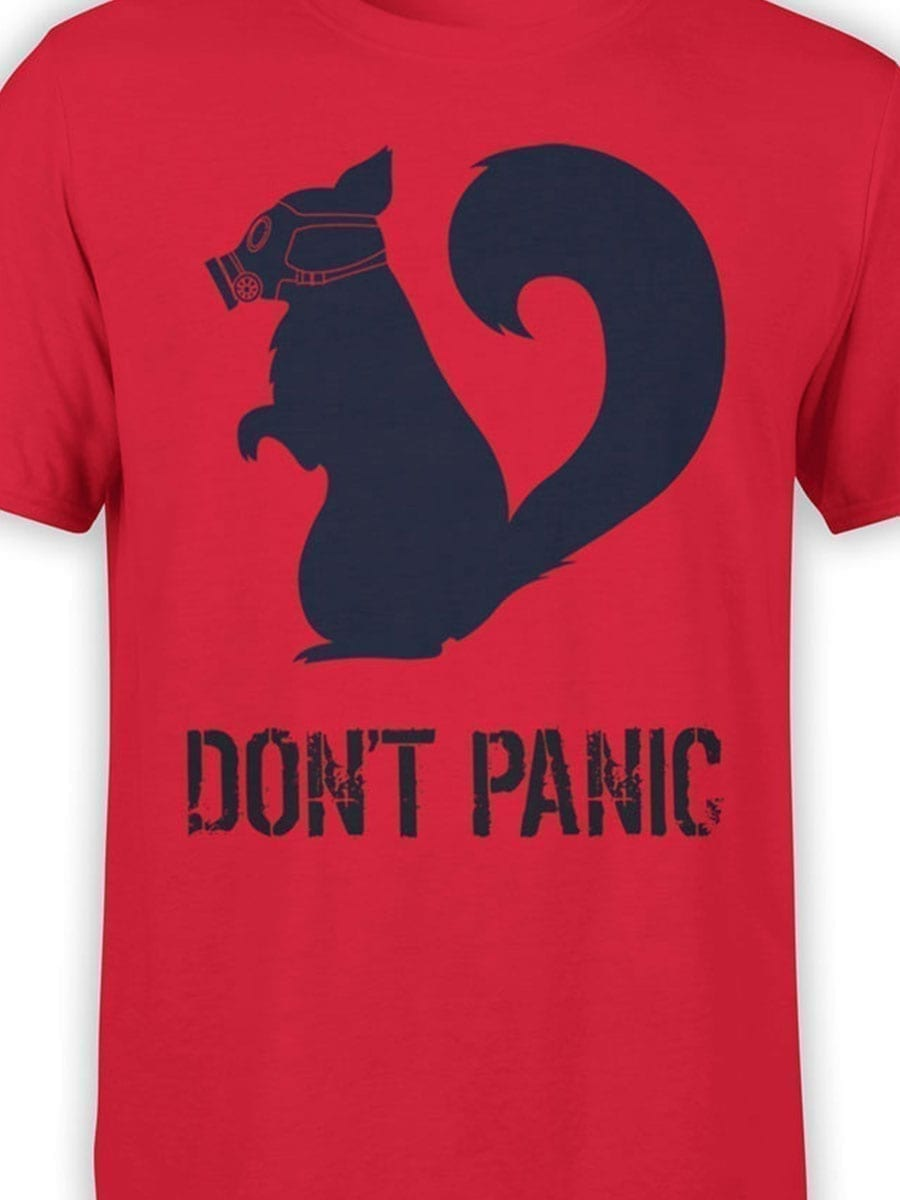 1900 Dont Panic T Shirt Front Color