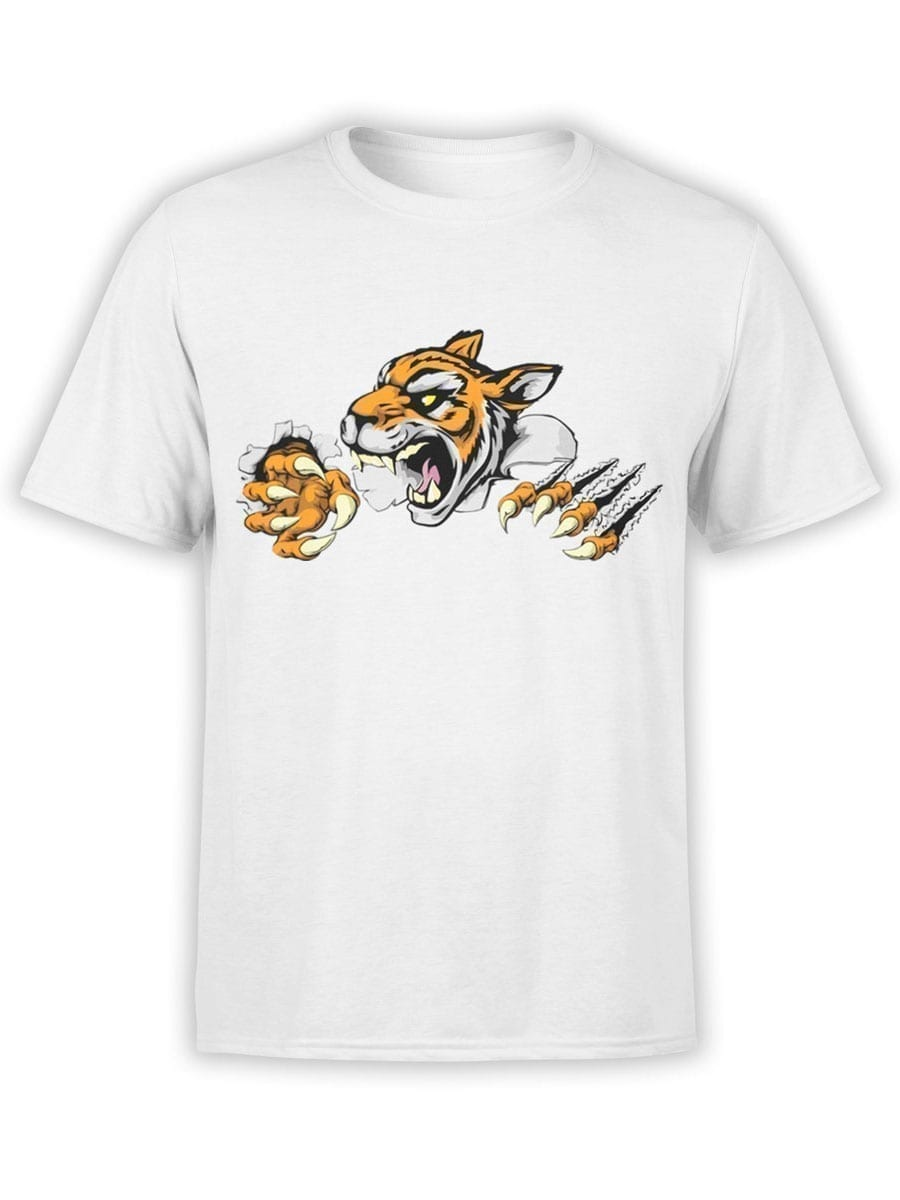 1903 Angry Tiger T Shirt Front