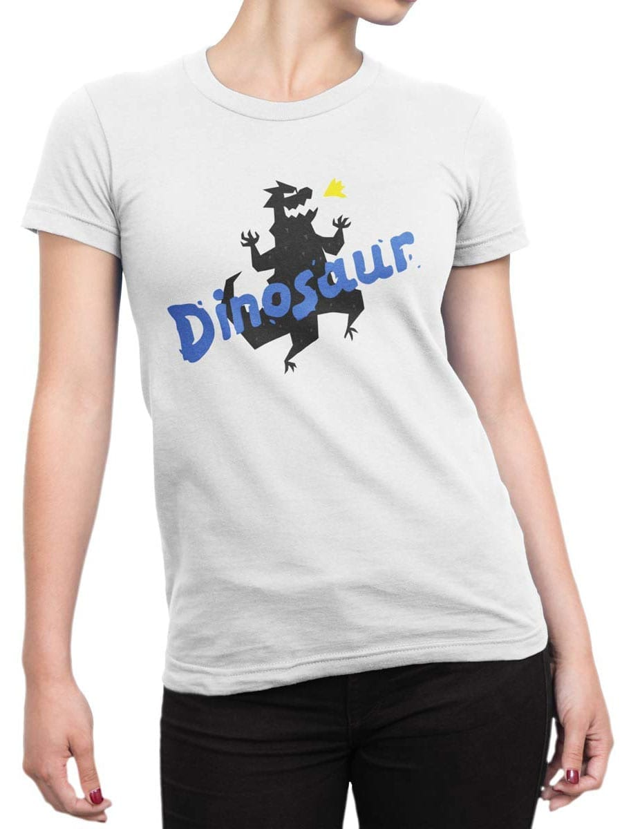 1936 Funny Dinosaur T Shirt Front Woman