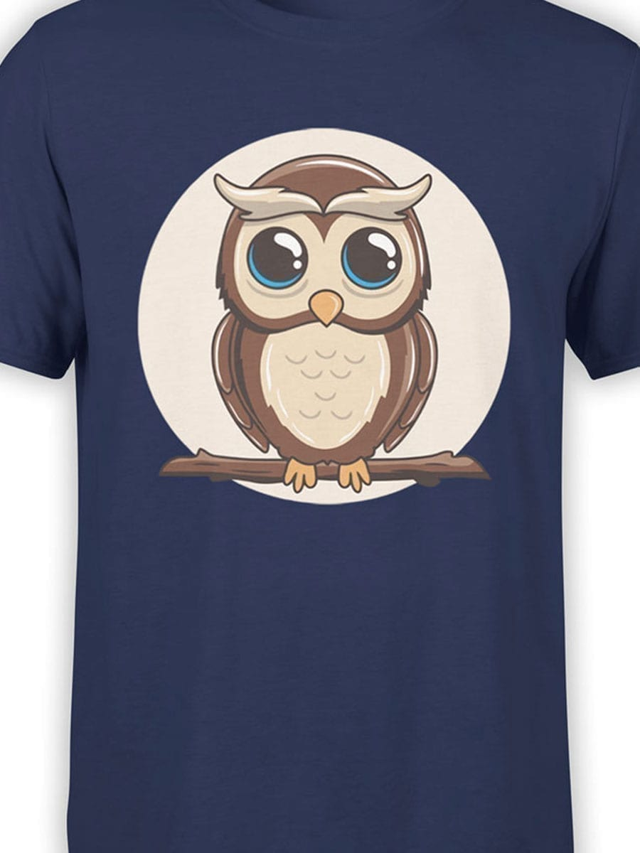 1951 Cute Owl T Shirt Front Color