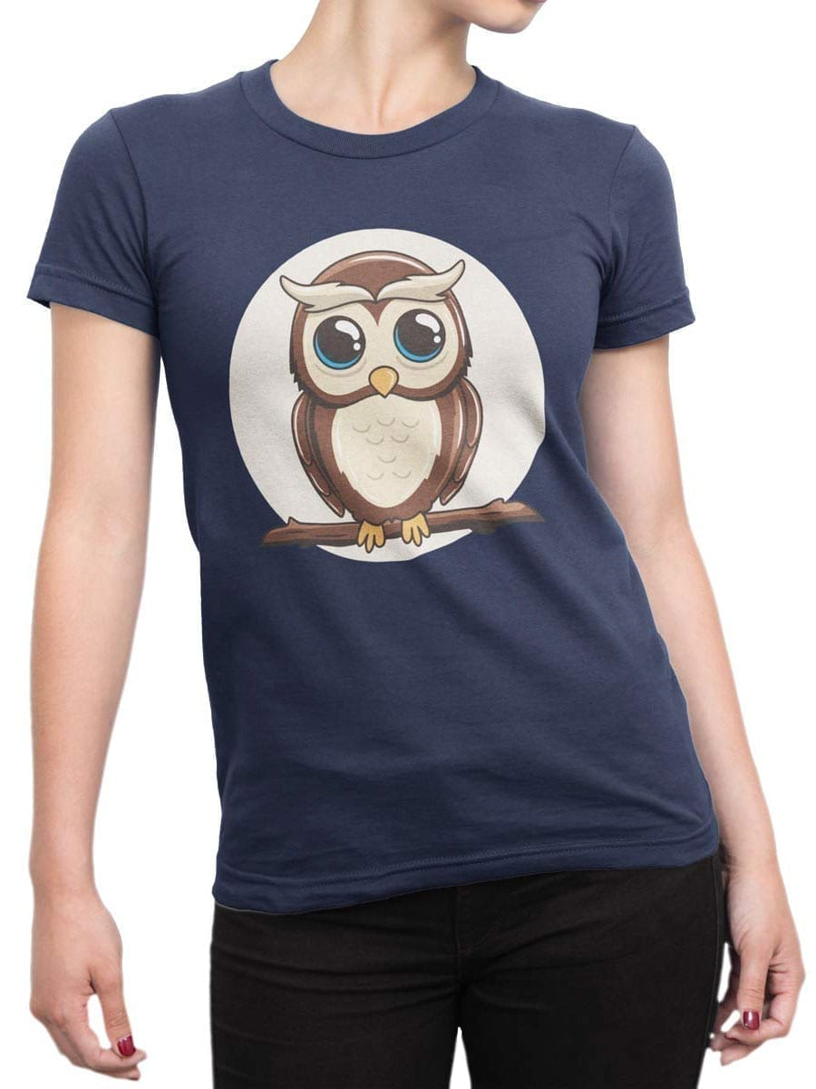 1951 Cute Owl T Shirt Front Woman