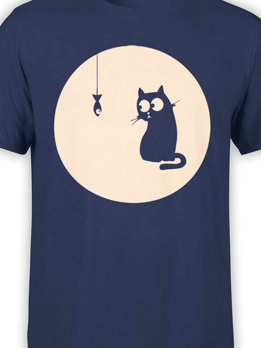 1954 Cat and Fish T Shirt Front Color