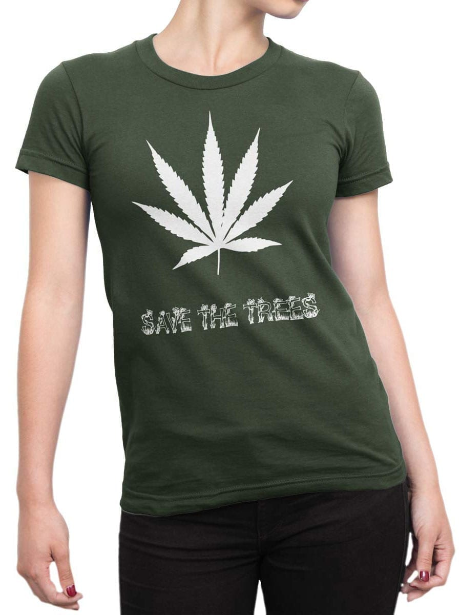 1964 Save the Trees T Shirt Front Woman