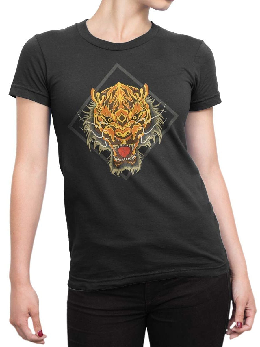 1969 Chinese Tiger T Shirt Front Woman