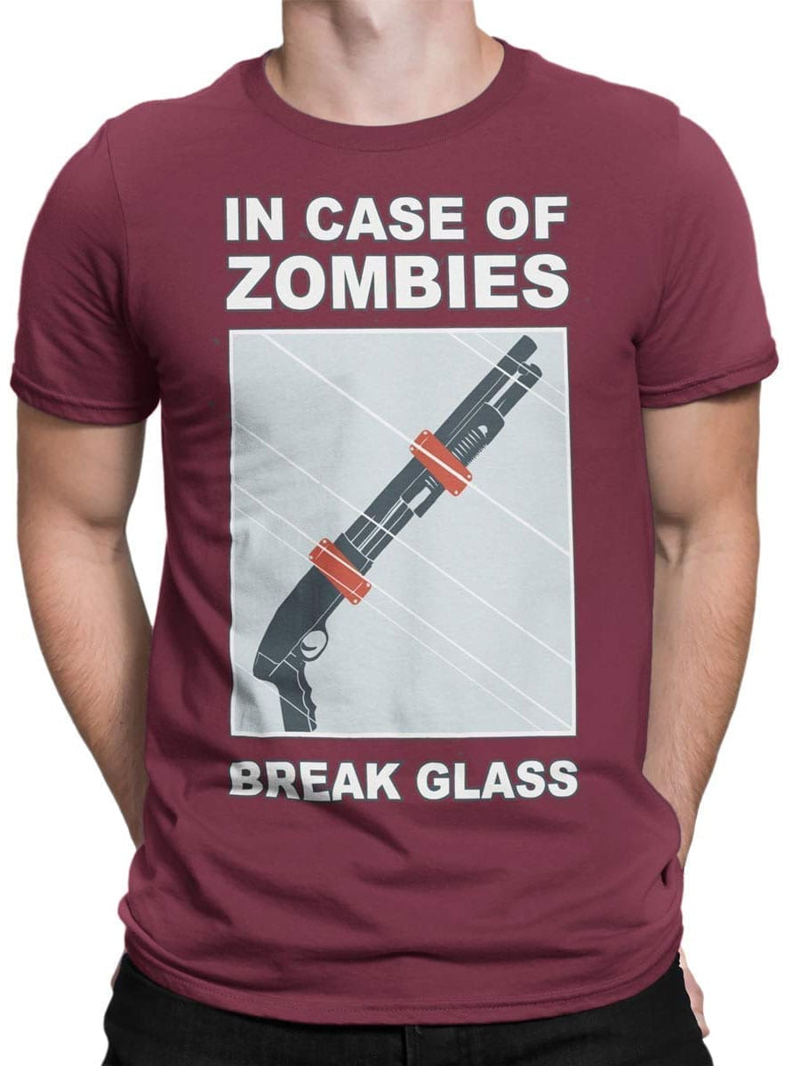 1987 In Case Of Zombies T Shirt Front Man