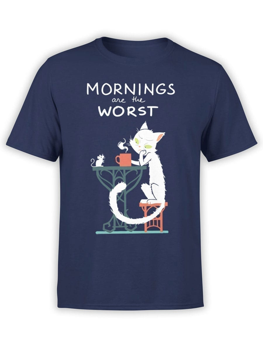 2012 Morning Cat T Shirt Front