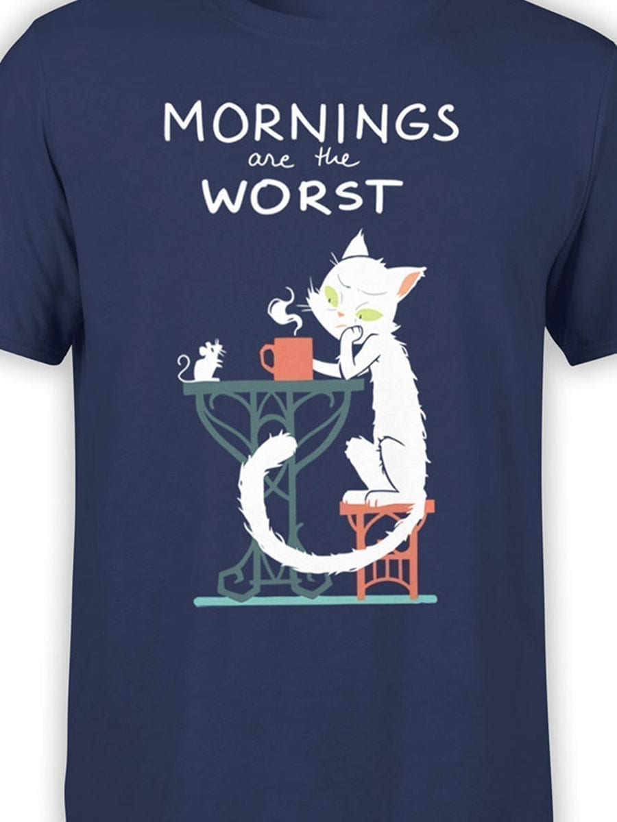 2012 Morning Cat T Shirt Front Color