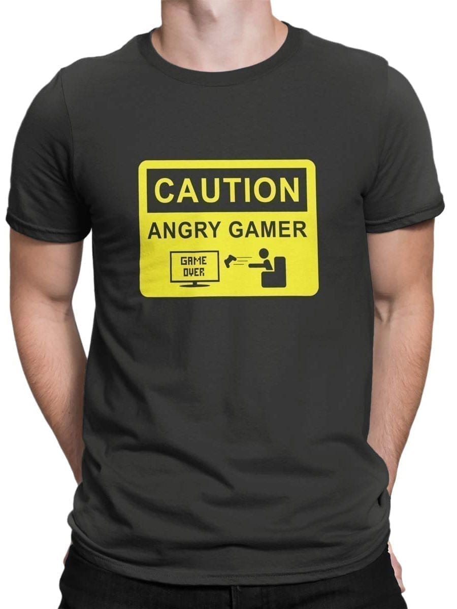 2030 Angry Gamer T Shirt Front Man