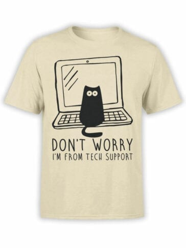 0687 Cat Shirts Tech Support Front